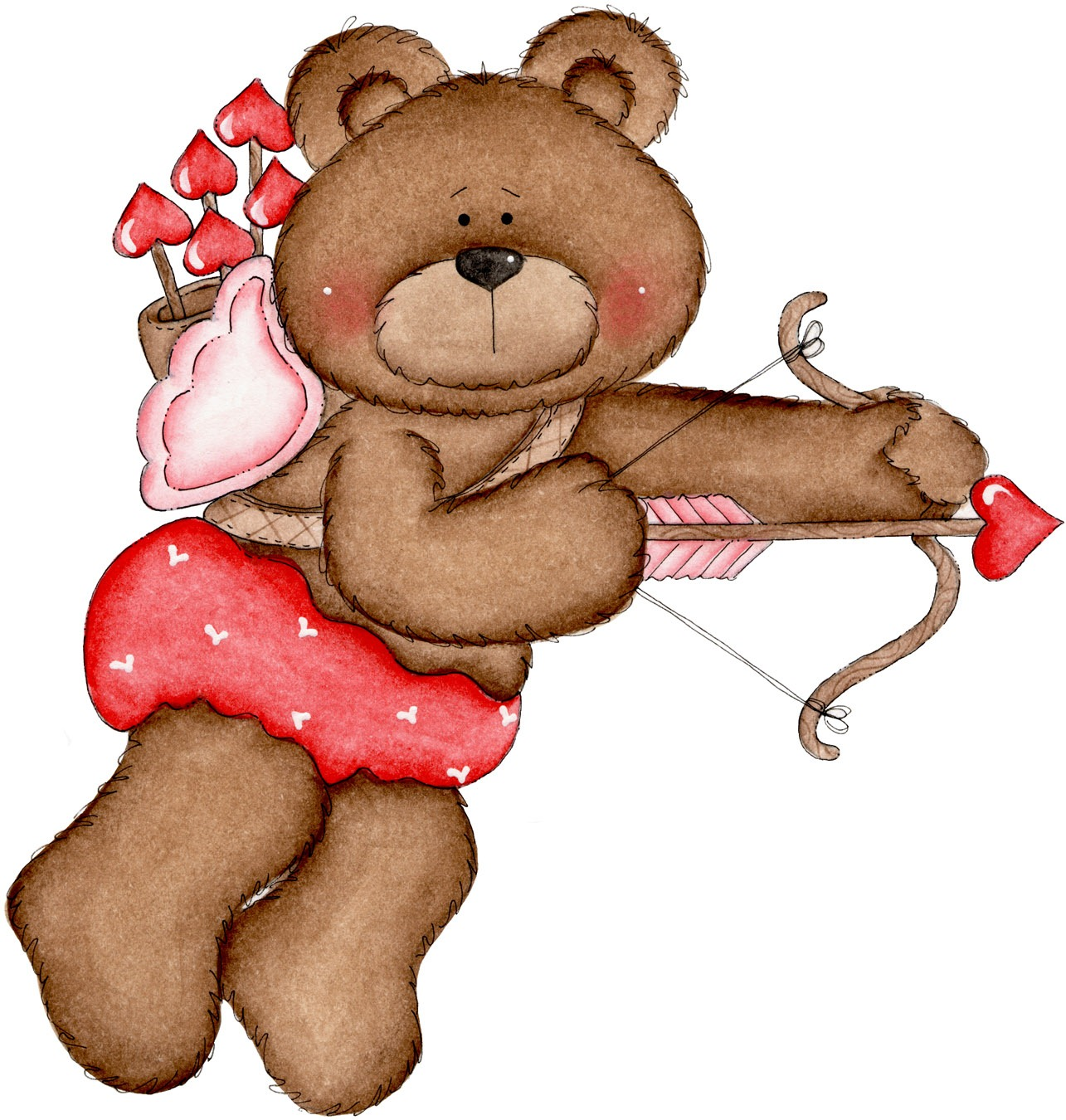 Valentines Day Bear Can Barely Wait For That Special Day